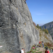 Les Gaillands rock climbing crag in Chamonix