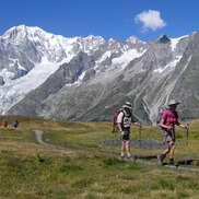 Trekking the Tour du Mont Blanc guided hike with Chamex mountain guides in Chamonix