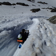 Quick Descent from Tete Rousse hut