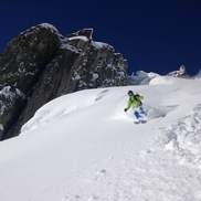Off-piste skiing in Chamonix