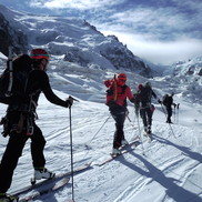 Ski Mont Blanc: Guided ski tour expedition of Mont Blanc with Chamonix Experience guides; ski touring, ski mountaineering & off-piste skiing on the highest peak in Western Europe