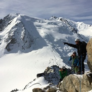 Climb the Cosmiques Arete from Aiguille du Midi
