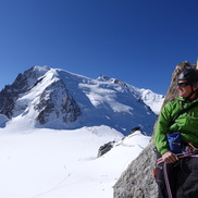 Climbing the Rebuffat Route at Aiguille du Midi in Chamonix