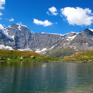 An alpine lake on the Haute Route Hiking Tour Chamonix to Zermatt